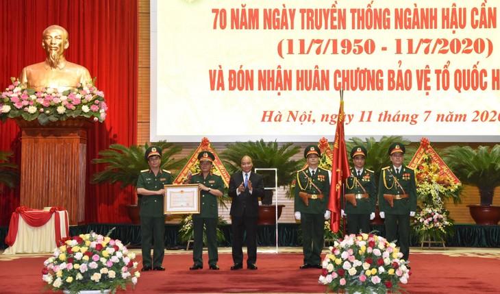 軍隊の後方支援部門創立70周年記念式典 - ảnh 1