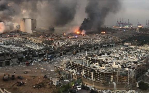 爆発被害のベイルート支援で国際会合 315億円余の拠出を約束 - ảnh 1