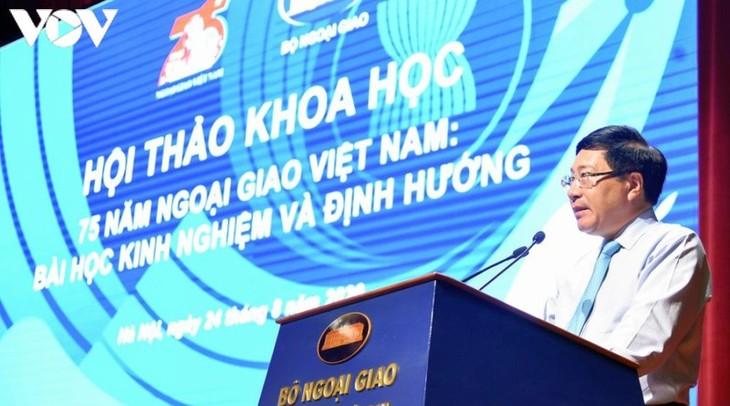 ベトナム外交部門の75年:教訓と国の新しい段階の方向性 - ảnh 1