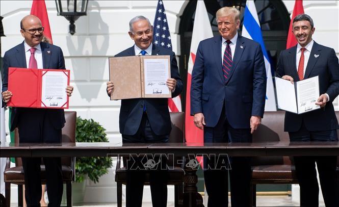 イスラエル UAE・バーレーンと国交正常化に署名 アメリカ仲介 - ảnh 1