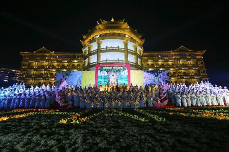 ベトナム仏教学院、国民の安泰を祈願する儀式を行う - ảnh 1