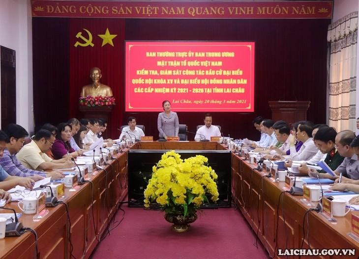 選挙監視代表団、ライチャウ省の選挙準備活動を視察 - ảnh 1