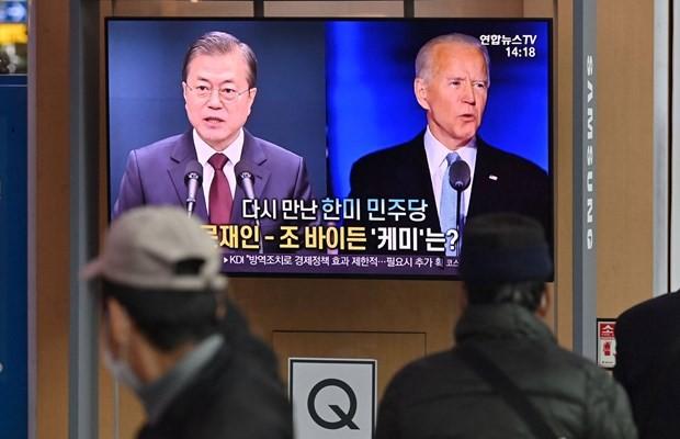 米韓首脳、5月後半にワシントンで会談へ - ảnh 1