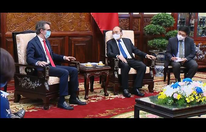 フック国家主席 EU大使と会見 - ảnh 1