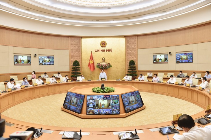 チン首相、新型コロナ予防対策でオンライン会議を主宰 - ảnh 1