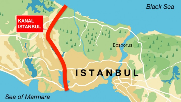 トルコ イスタンブール 大運河建設計画の関連工事始まる - ảnh 1