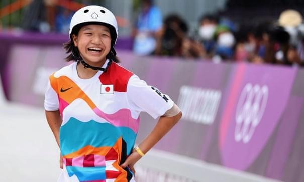13歳の西矢選手が女子スケボーで金メダル獲得 - ảnh 1