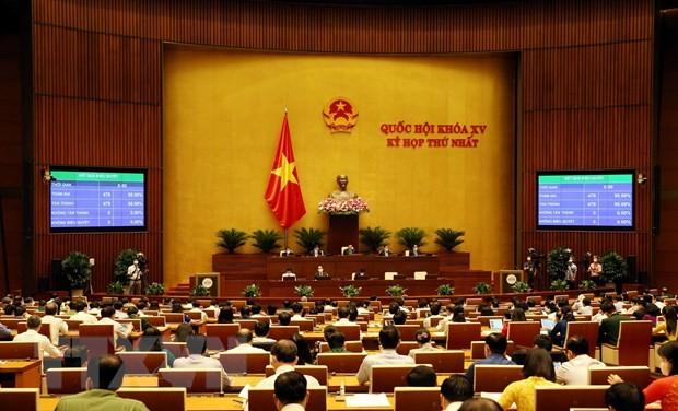 国会、新任期の政府構造に関する決議を採択 - ảnh 1