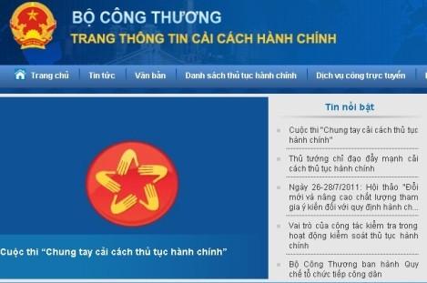 越南工商部开通行政规定网站 - ảnh 1