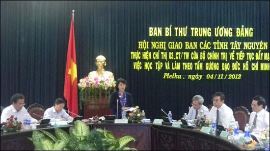 越共中央书记处与西原地区各省讨论落实政治局三号指示情况 - ảnh 1