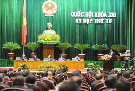 越南13届国会4次会议讨论宪法修正草案和个人所得税法修正草案  - ảnh 1