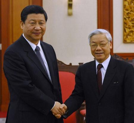 阮富仲总书记向新任中共中央委员会总书记习近平致贺电 - ảnh 1