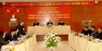 西北部指导委员会举行2013年任务部署会议 - ảnh 1