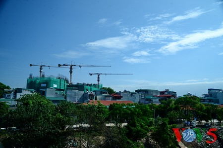台风过后的河内蓝天 - ảnh 11