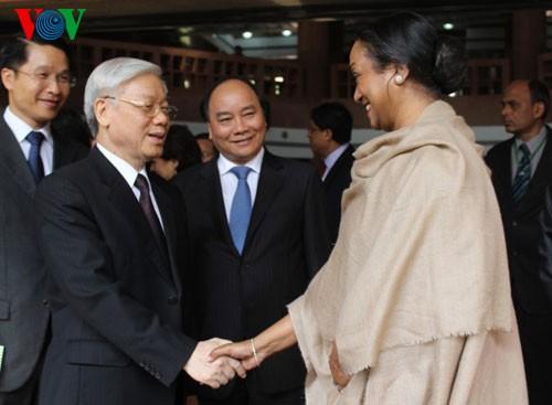 阮富仲总书记会见印度议会人民院议长库尔马 - ảnh 1