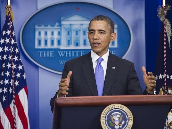 """奥巴马总统希望2014年将是美国""""突破性""""的一年 - ảnh 1"""