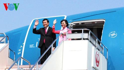 张晋创主席开始对日本进行国事访问 - ảnh 1
