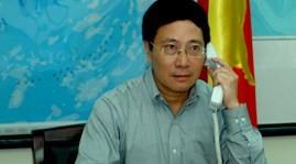 越南政府副总理兼外长范平明同中国外长王毅通电话 - ảnh 1