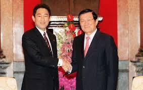 越南国家主席张晋创会见日本外务大臣岸田文雄 - ảnh 1