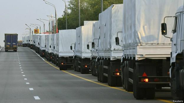俄罗斯援助车队空无一物离乌返俄 - ảnh 1