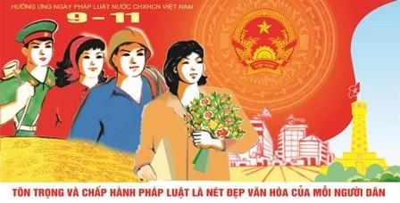 越南各地各部门将举行2014年法律日响应活动 - ảnh 1