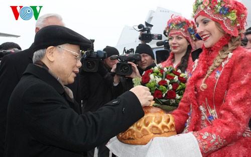 阮富仲总书记:越南希望推动与白俄罗斯的全面合作关系 - ảnh 1