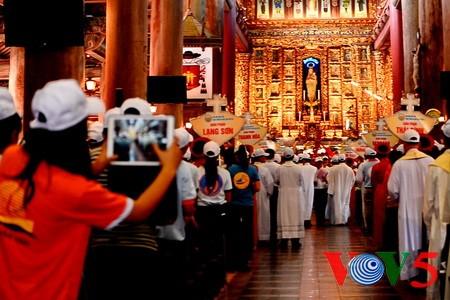 天主教河内总教区青年教徒大会隆重举行 - ảnh 12
