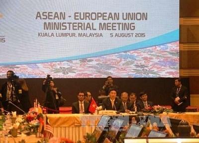 越南政府副总理兼外长范平明在第四十八届东盟外长会议期间的活动 - ảnh 1