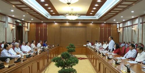 越共中央政治局检查河内市第16次党代会准备工作 - ảnh 1