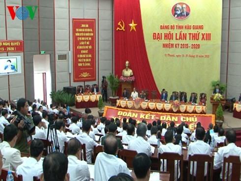 岘港、后江、茶荣、平定和永福等省市举行党代会 - ảnh 2
