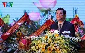 越南国家主席张晋创向第三军区武装力量授予一级军功章 - ảnh 1