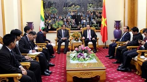 越南公安部部长陈大光会见缅甸内政部代表团 - ảnh 1