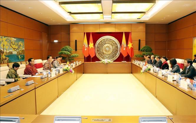 越南国会主席阮氏金银与不丹国家委员会主席塔希·多吉举行会谈 - ảnh 1