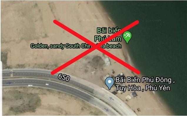 谷歌地图关于富安省绥和市海滩的注释不属实 - ảnh 1