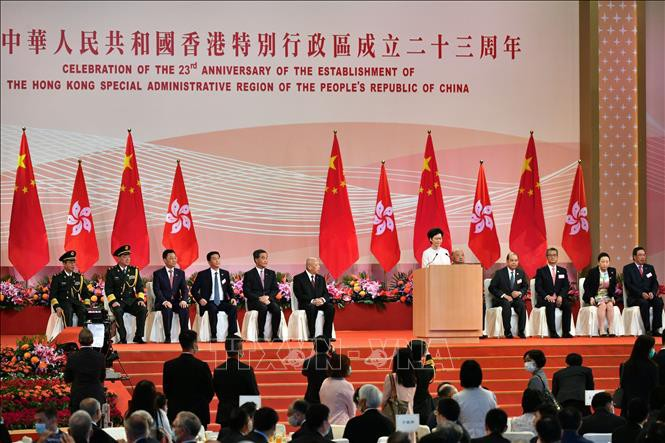 香港举行回归中国23周年纪念活动 - ảnh 1