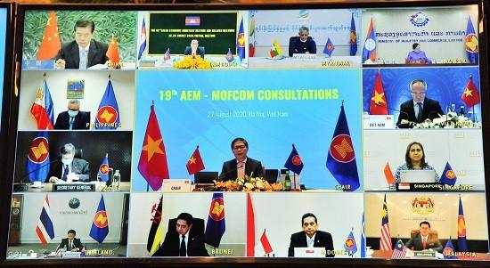 东盟与中国就经济合作举行线上磋商 - ảnh 1