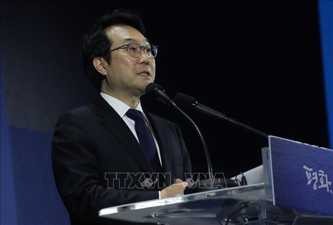 中韩通电话讨论与朝鲜的核谈判 - ảnh 1