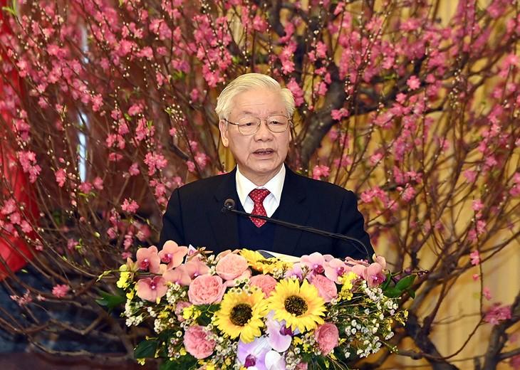 越共中央总书记、国家主席阮富仲2021年辛丑春节贺词 - ảnh 1