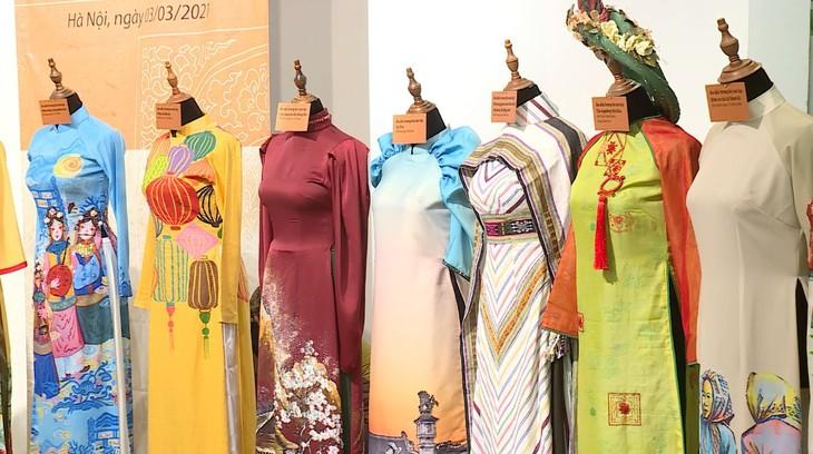 越南传统 奥黛上的越南文化遗产 - ảnh 3