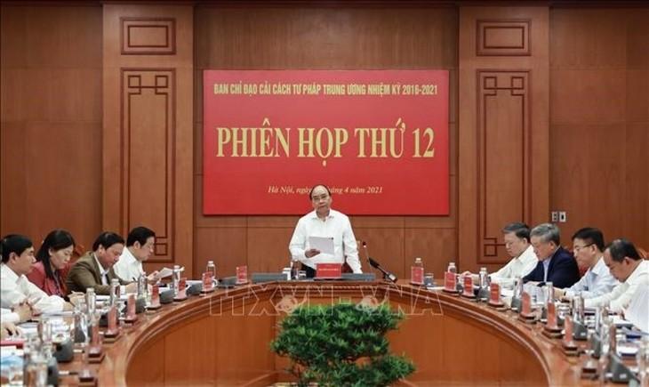 越南国家主席阮春福主持中央司法改革指导委员会会议 - ảnh 1