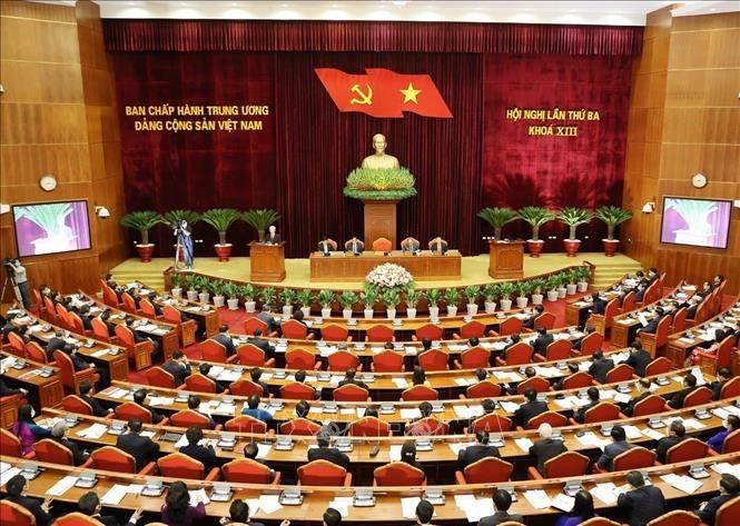 越南共产党第13届中央委员会第3次全体会议开幕 - ảnh 1