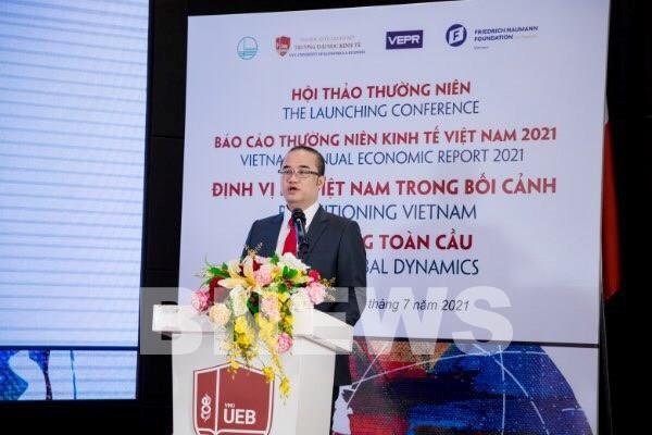 2021年越南经济年度报告发布 - ảnh 1