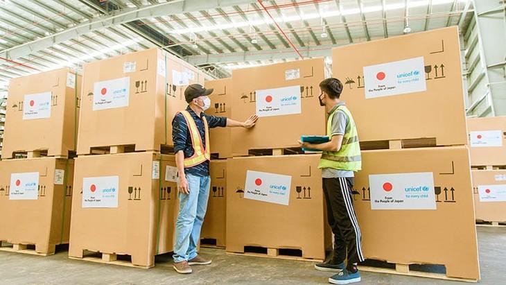 由日本赞助的300台疫苗存储用医用冰箱已运抵越南 - ảnh 1