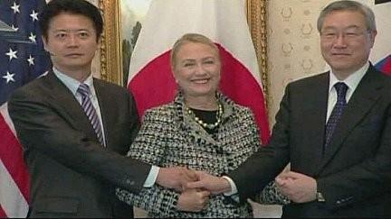 Menlu Amerika Serikat – Jepang – Republik Korea berbahas tentang ketegangan di kawasan Asia Timur Laut - ảnh 1