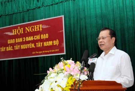 Konferensi briefing Badan-badan Pengarahan daerah Tay Bac, Tay Nguyen dan Nam Bo Barat - ảnh 1