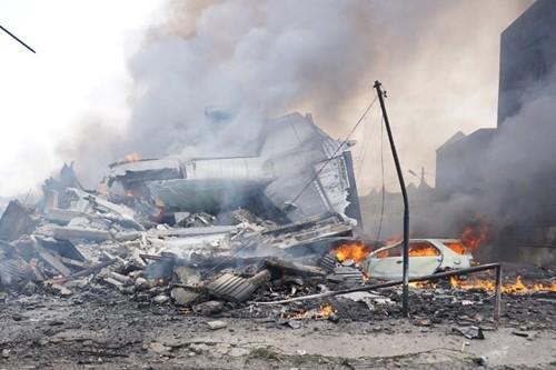 Kecelakaan pesawat terbang militer memakan korban 113 orang - ảnh 1