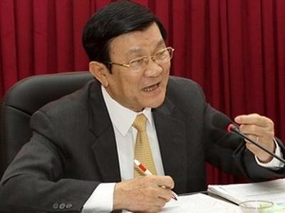 Staatspräsident Truong Tan Sang besucht Haiphong - ảnh 1