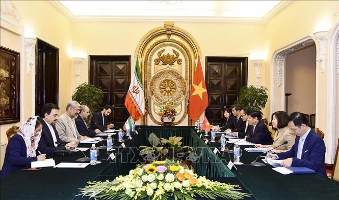 Vizeaußenminister Nguyen Quoc Cuong führt Gespräch mit seinem iranischen Amtskollegen - ảnh 1