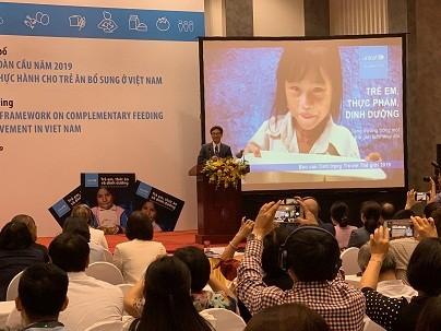 Mühe Vietnams zur Gewährleistung der Kinderernährung  - ảnh 1