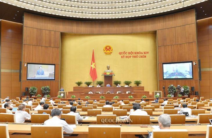 Abgeordnete diskutieren über den geänderten Gesetzesentwurf zur Organisation des Parlaments - ảnh 1
